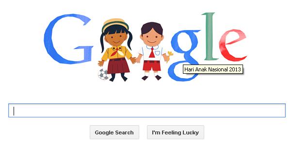 logo google peringati hari anak nasional 2013