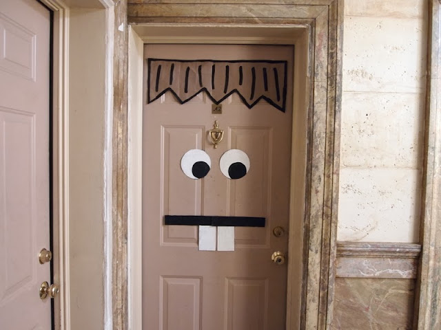 Monster door for Halloween