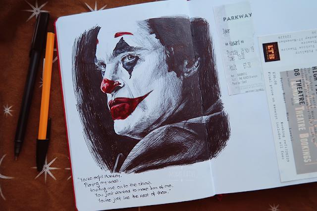 joker joaquin phoenix portrait sketch
