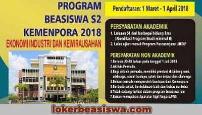 Beasiswa S2 Universitas Diponegoro