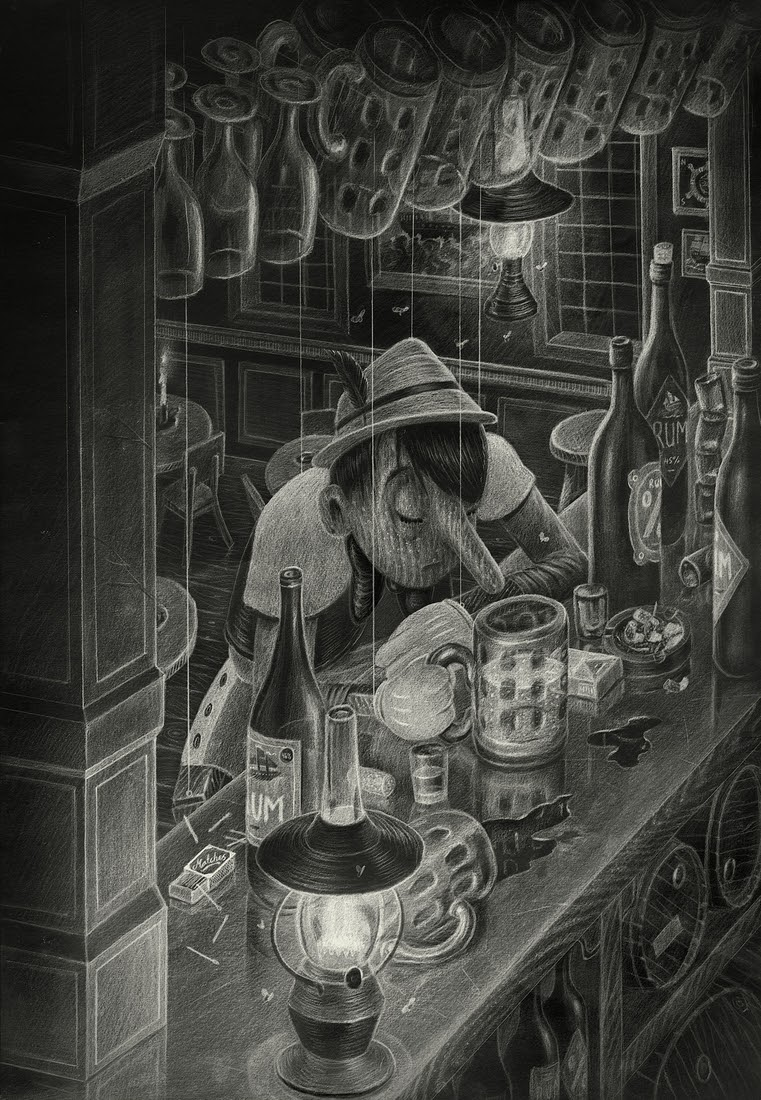 07-Pinocchio-Børge-Bredenbekk-Eclectic-Subjects-in-Realistic-Pencil-Drawings-www-designstack-co