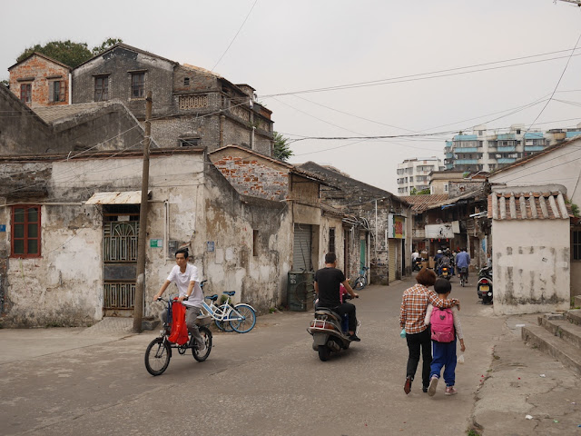 section of Baisha Road in Jiangmen with older buildings