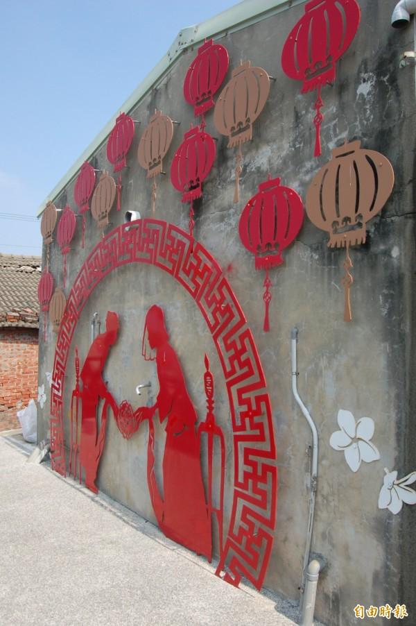 雲林口湖-留住地方文化《水井村光雕牆》訴說先民克苦鑽井,尋找水源的故事