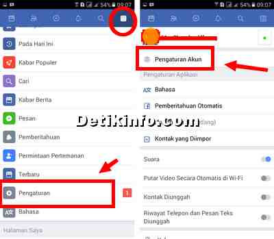pengaturan security login FB