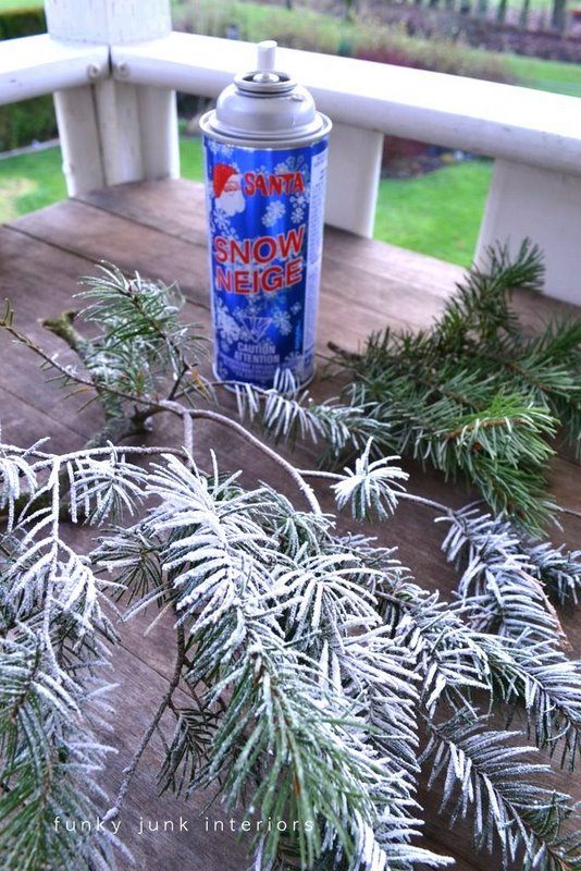 how to make it snow inside your home realistically on funkyjunkinteriors