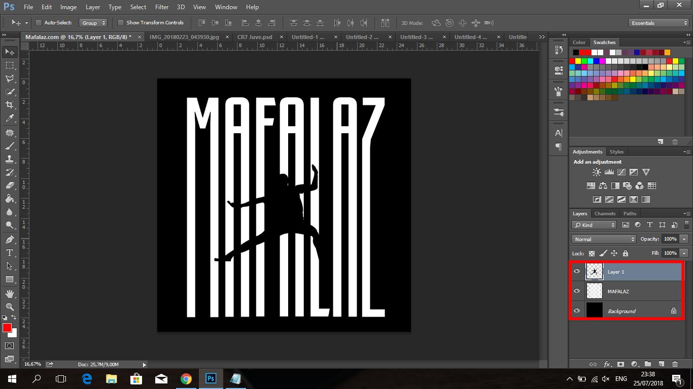Cara Membuat Tulisan CRIS7ANO Ala Juventus Di Photoshop - 13