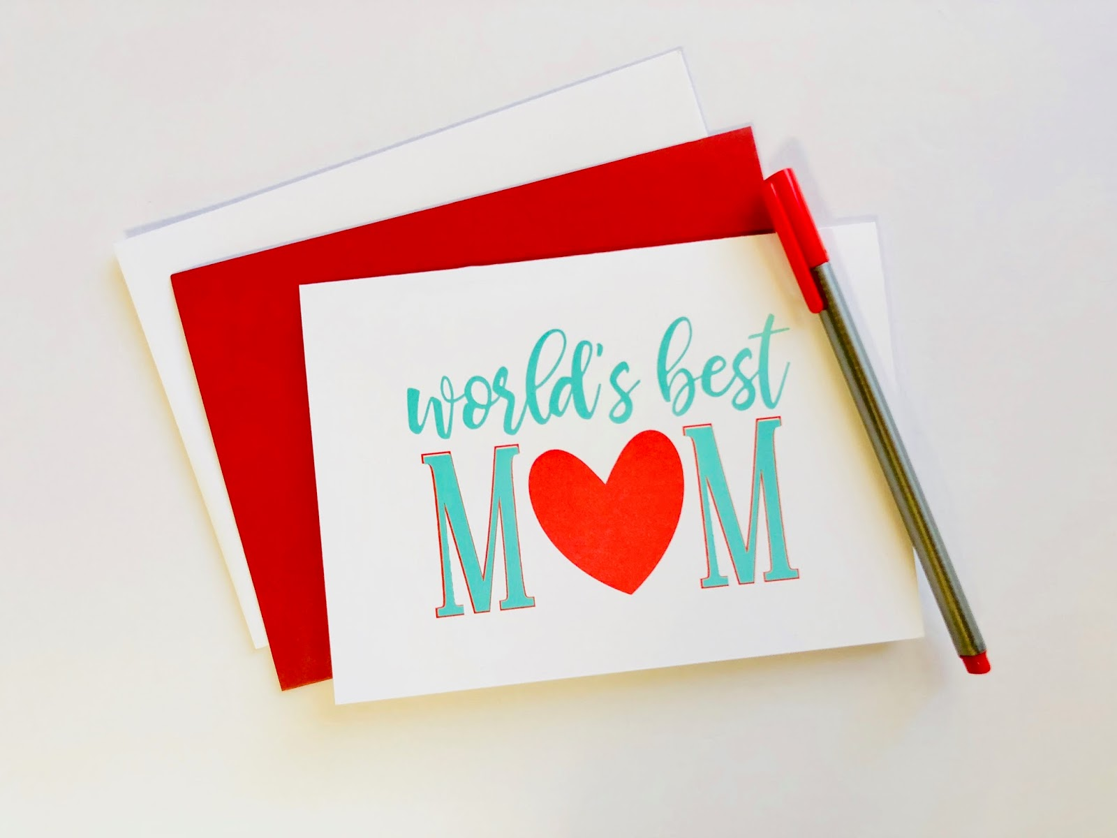 #Mother's Day Card #Mom #World's Best Mom #Valentine's Day Card #free #download #printable #Happy Valentine's Day Card