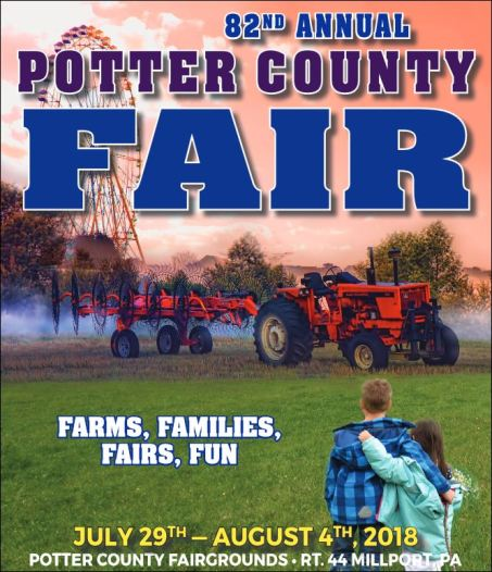 7-29 through 8-4, 82nd Potter County Fair