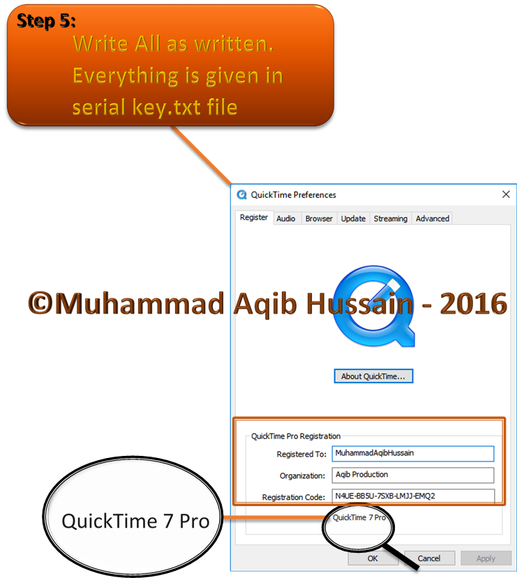 QuickTime Pro 7 7 9 with Serial Key Free Download | Free Download