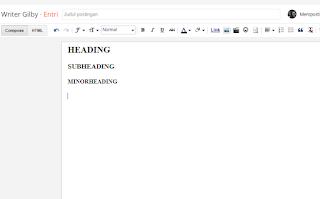 Format Untuk Heading TAG