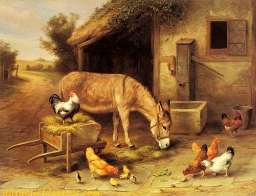 edgar hunt hayvan resmleri yağlı boya tablosu
