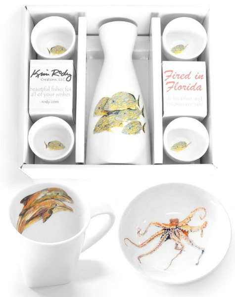 Coastal Art Dishes and Dinnerware