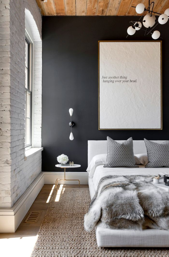 warna cat kamar tidur hitam putih 3