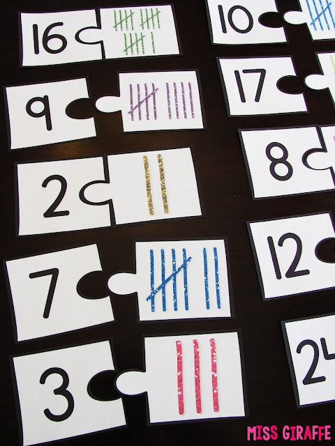 Tallies puzzles to teach how to count tally marks and other fun graphing activities