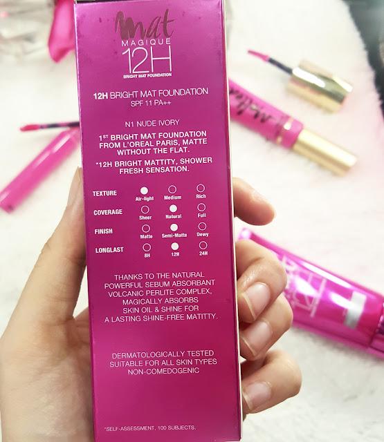 Ridzi Makeup New L Oreal Mat Magique 12h Bright Mat