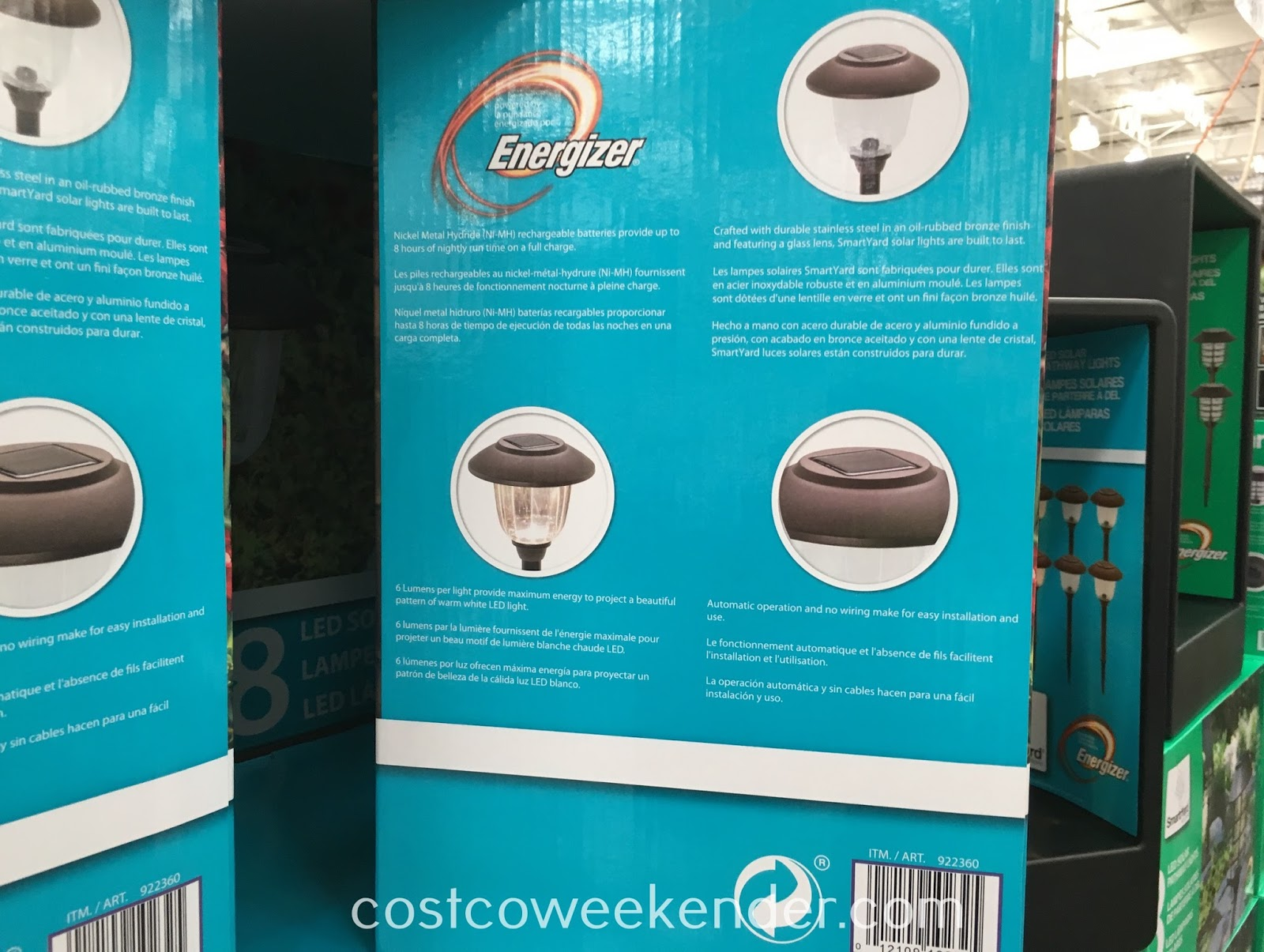 Costco 922360 - SmartYard LED Solar Pathway Lights: great for the backyard or the front of your home