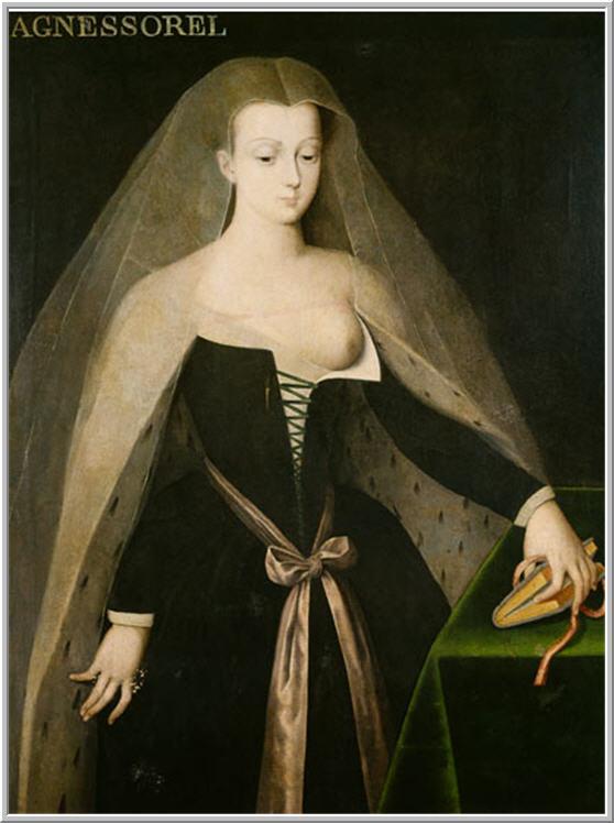 33221ebf70d0f Agnes Sorel (1422-1450), pertenecía, como amante oficial de Carlos VII,al  séquito francés y tuvo la oportunidad de vestir ataviada según marcaban los  ...