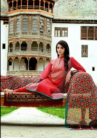 Latest Wardha Salim Lawn Collection 2014 by Shariq Textiles