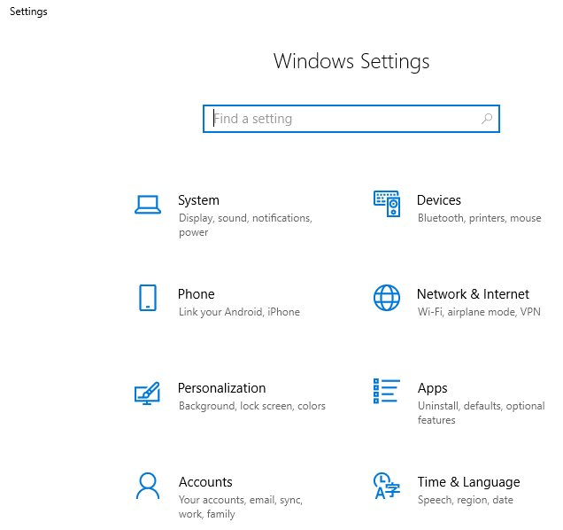 windows 10 control panel vs settings