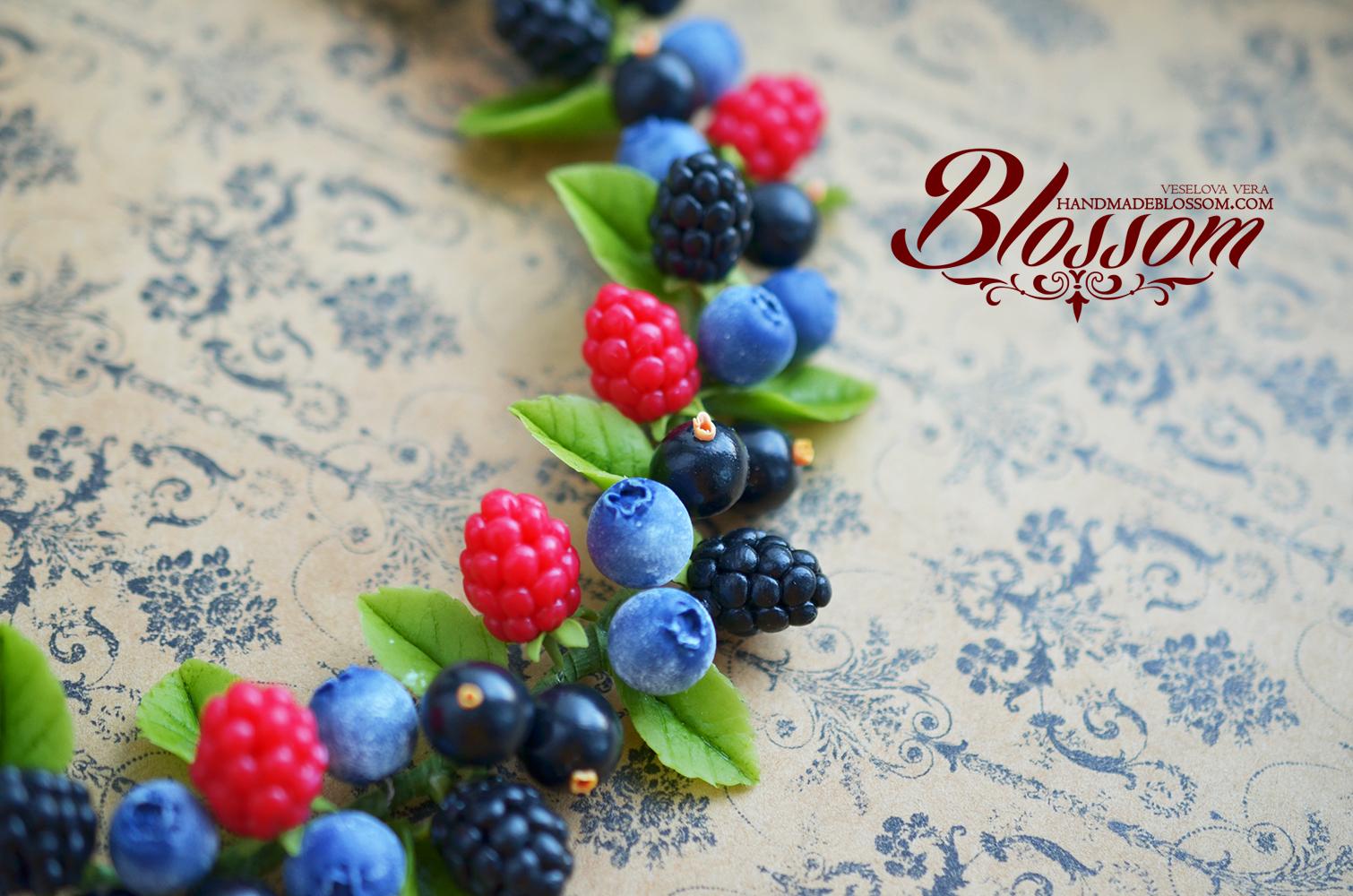 малина,вишня, смородина, колье с ягодами, necklace, berries, raspberry,