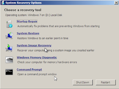 create system repair disc windows - system image recovery
