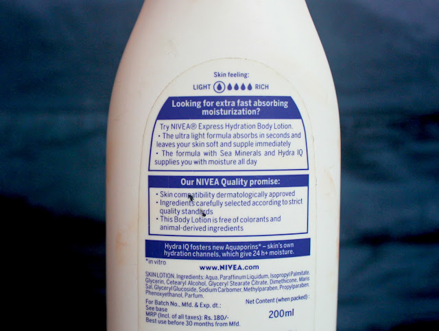 Nivea Express Hydration Body Lotion: Quick Review