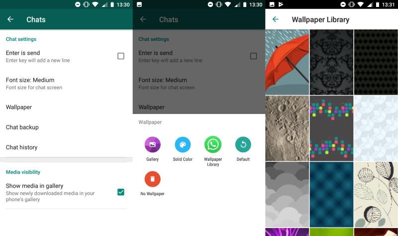 كيفية تغيير خلفيات WhatsApp