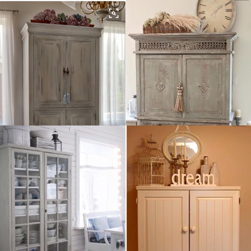 Top Of Armoire. I Really Love White And Cream Furniture And Furnishings  With A Pop Of Colour In My