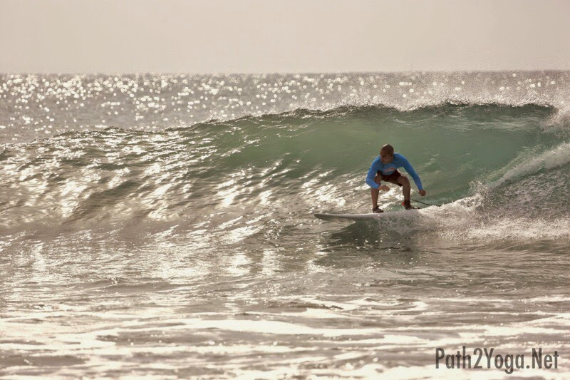 Surfing the Main Point in Arugam Bay