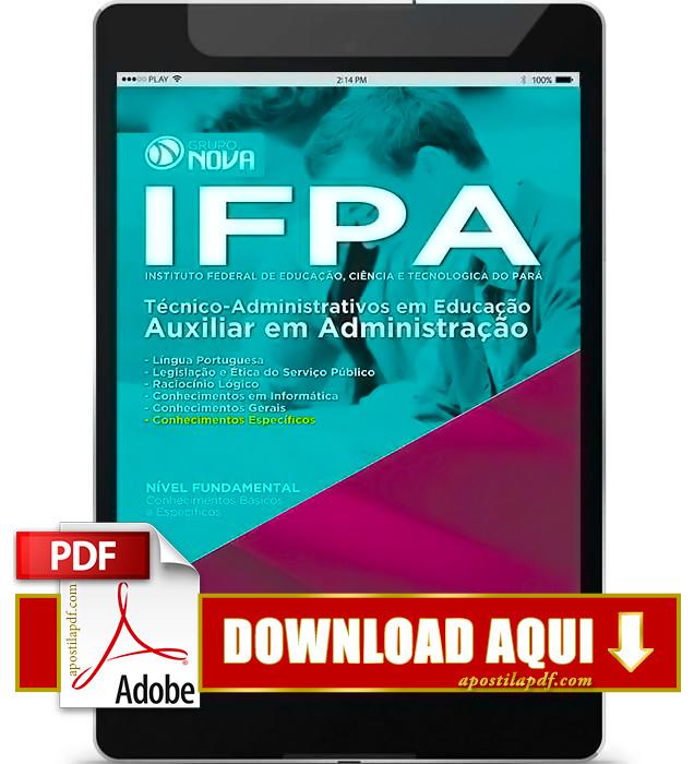 Apostila IFPA 2016 Auxiliar em Administração PDF Download