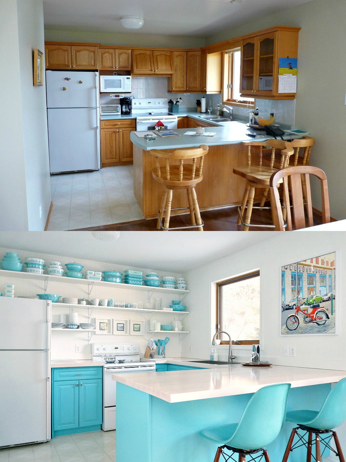 How to Paint Kitchen Cabinets ... : paint or stain kitchen cabinets - hauntedcathouse.org