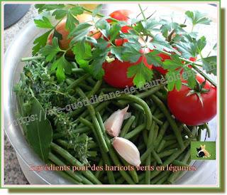 Vie quotidienne de FLaure : Haricots verts en légume