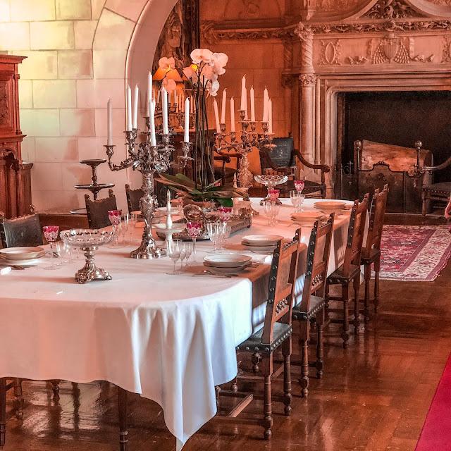 The New Blacck - Orléans - Blog - Chaumont sur Loire - Intérieur château - salle à manger
