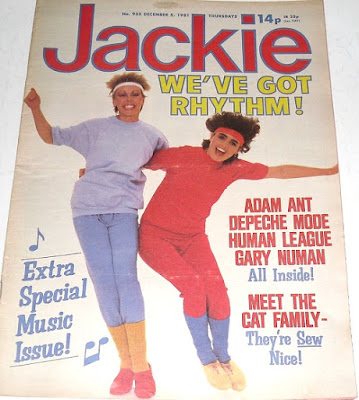 Jackie magazine 1981 - 80s Fitness fashion - leg warmers and headbands.