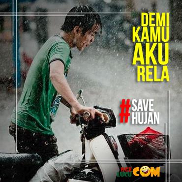 Gambar DP BBM Lucu Hujan Deras Sekali
