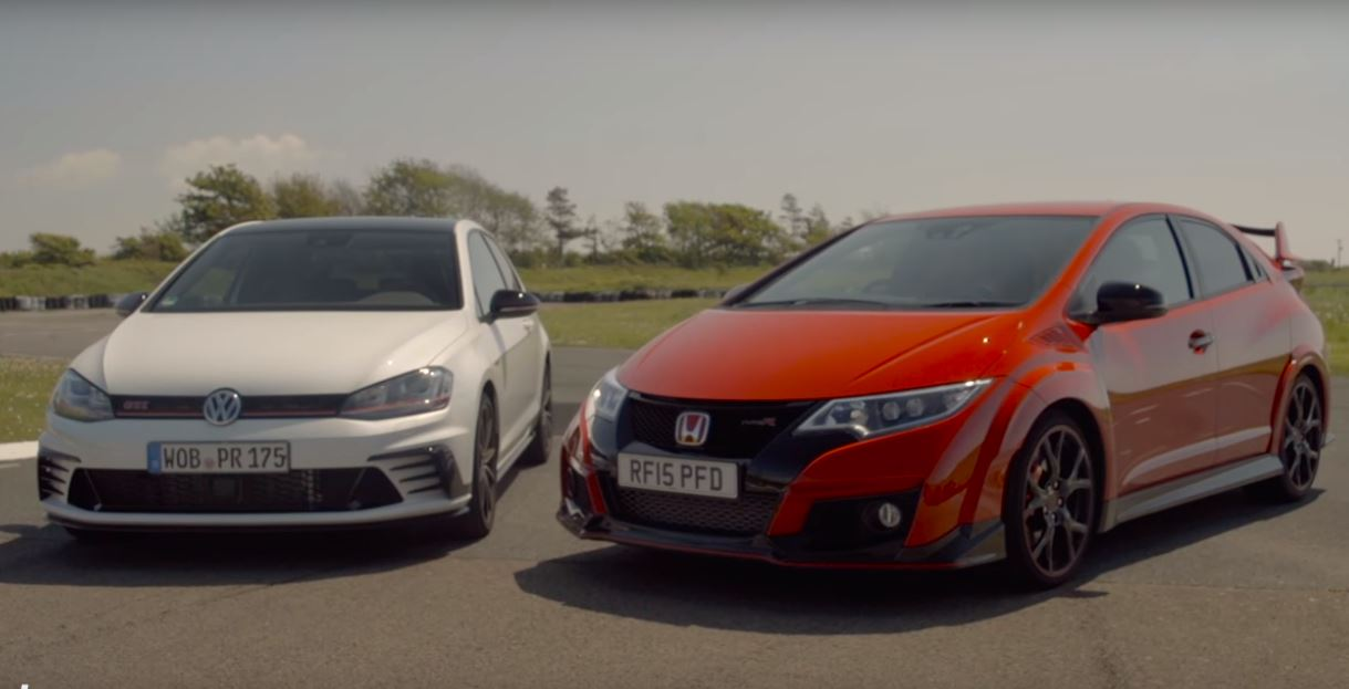 honda civic type r gives vw golf gti clubsport a spanking. Black Bedroom Furniture Sets. Home Design Ideas