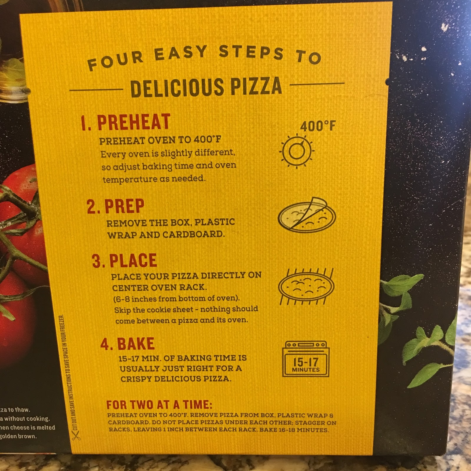 California Pizza Kitchen Frozen Pizza Directions