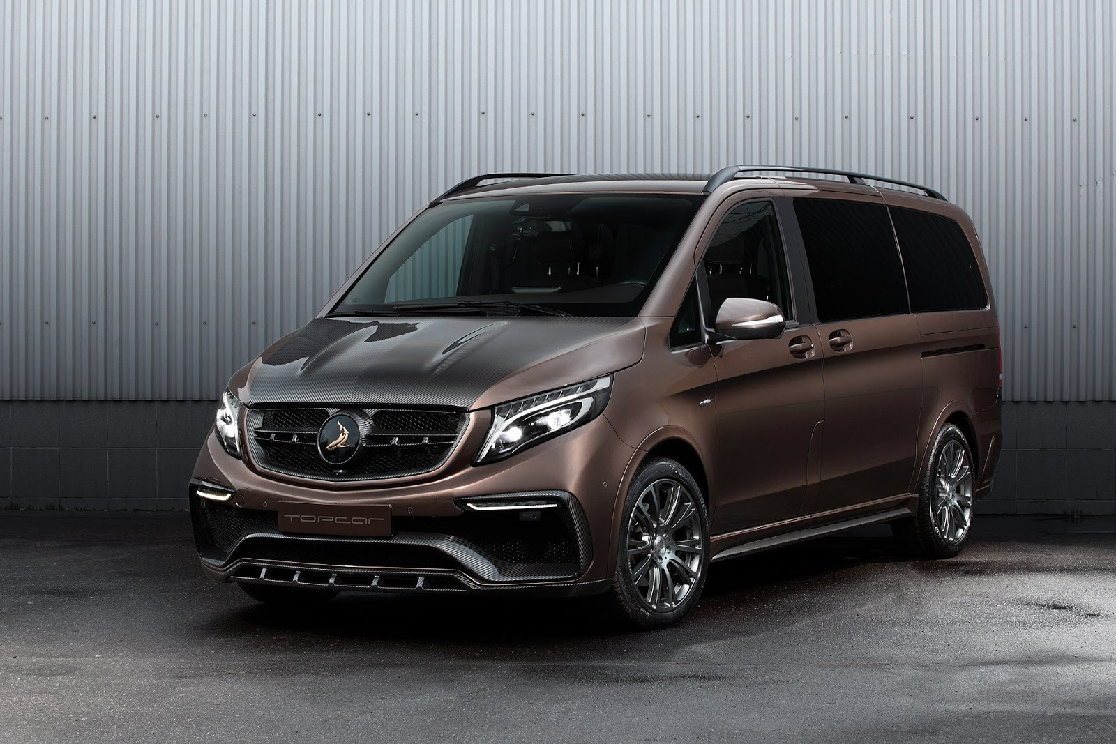 Topcar transforms mercedes v class into something fit for for Mercedes benz hollywood
