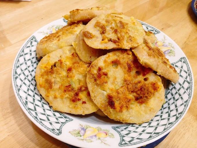 Jack's' Unprofessional Cooking-Pan Fried Lotus Root Pancake with ground pork