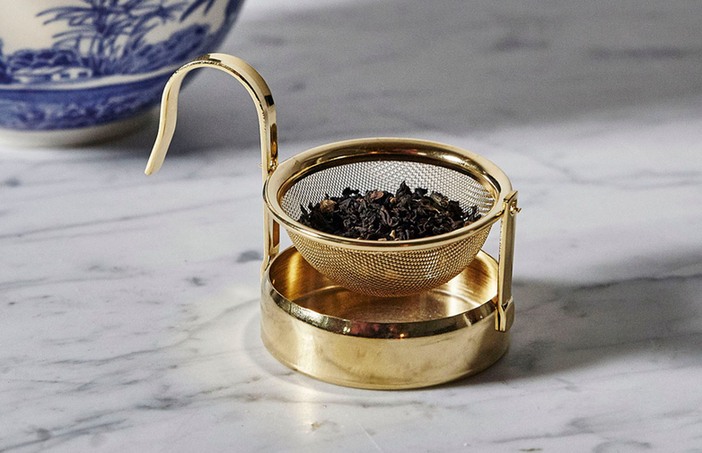 GOLD PLATED TEA STRAINER