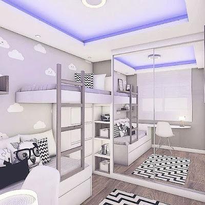 desain dinding kamar tidur unik