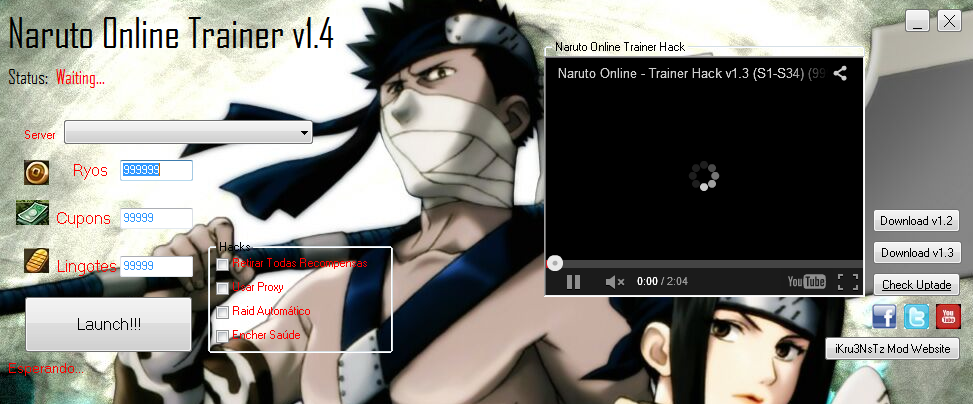 naruto - naruto online hack tool v1.0 - free download