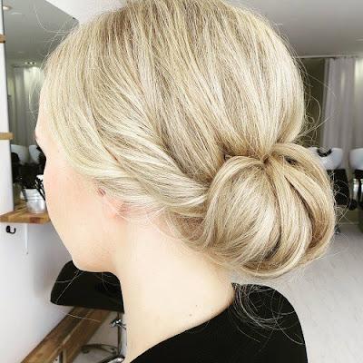 peinados recogidos con tocado