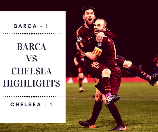 Lionel Messi scored from iniesta assist to give Barca a vital away goal advantage against Chelsea