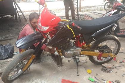 Motor Honda GL PRO di Rubah Jadi Trail