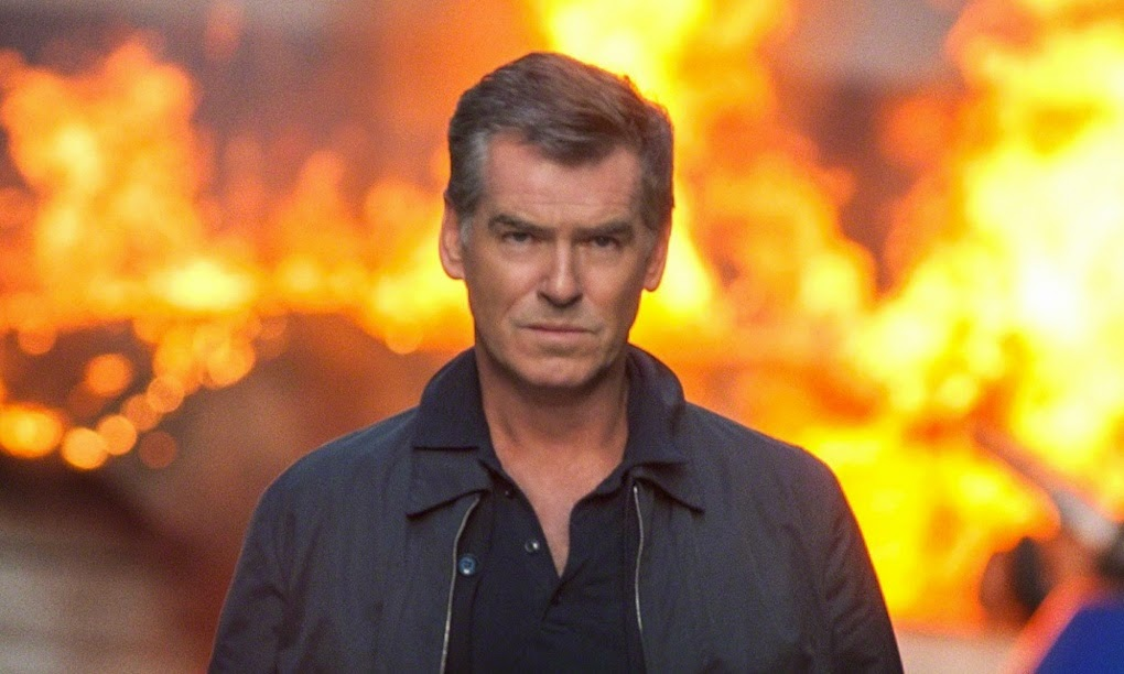 Pierce Brosnan The November Man 2014 action movie cliche Explosion Walk