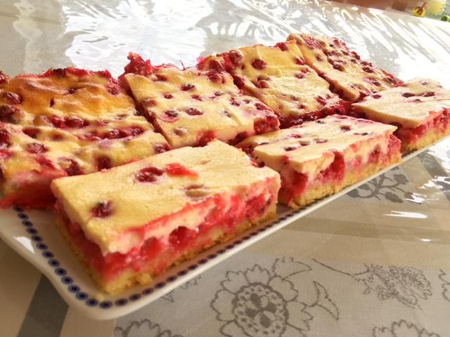 Kuchen johannisbeer quark