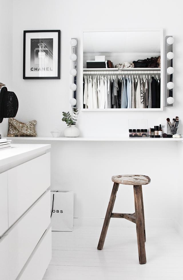 Modern minimalist closet.