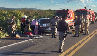 7 pessoas mortas e 2 feridas em grave acidente na BR 230 neste domingo (12)