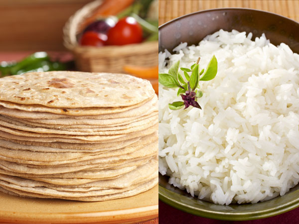 How much Chapatti or Rice Eat